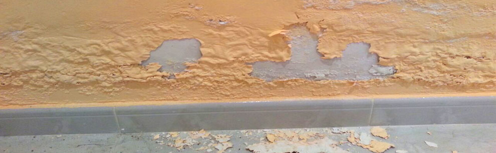 Rising damp may damage walls from its interior.