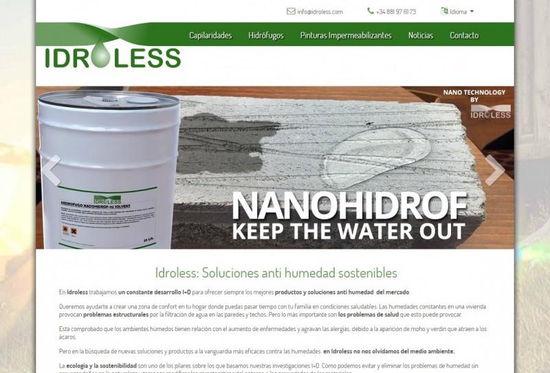 Lanzamiento nueva web idroless