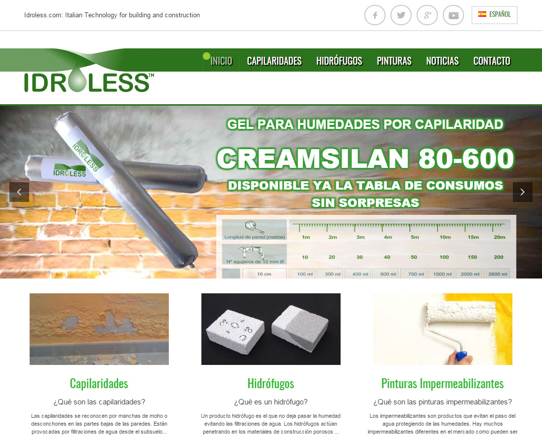 Nueva web Idroless.com adapatada a dispositivos móviles, tablets, ordenadores ...